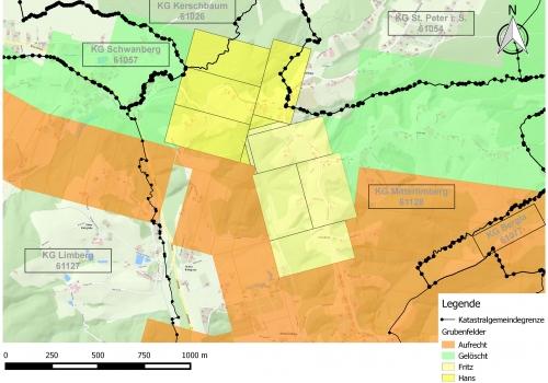 Löschung von Bergwerksberechtigungen im Glanzbraunkohlenrevier Wies-Eibiswald