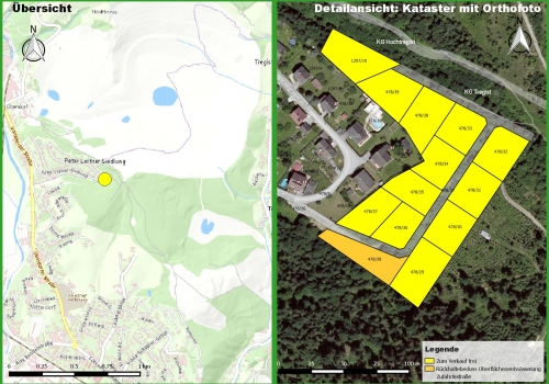 Voitsberg: Peter-Leitner-Siedlung: Schön gelegene Baugrundstücke