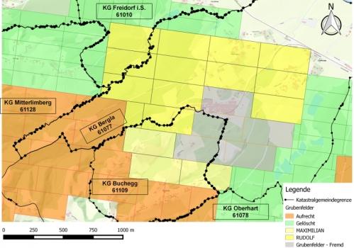 Löschung von Bergwerksberechtigungen in Wies-Eibiswald